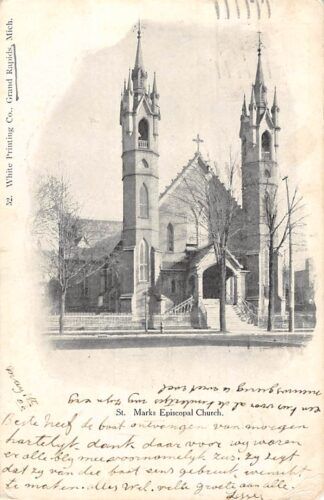 Ansichtkaart Verenigde Saten Grand Rapids St. Marks Episcopal Church 1906 USA Noord-Amerika HC7375