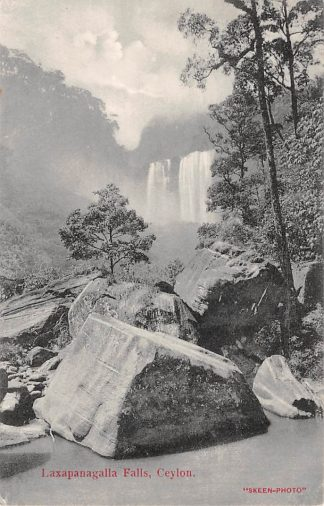 Ansichtkaart Ceylon Sri Lanka Laxapanagalla Falls 1910 Azië HC7376
