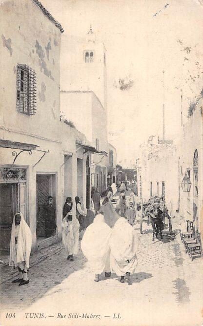 Ansichtkaart Tunesië Tunis Rue Sidi Mahrez Klederdracht Afrika Tunisie 1923 HC7379