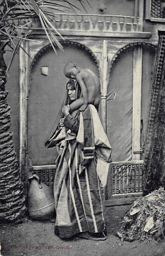 Ansichtkaart Egypte Native carrying her child Egypte Afrika HC7381