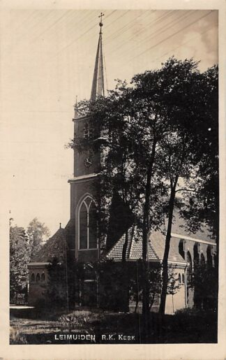 Ansichtkaart Leimuiden R.K. Kerk Fotokaart Bromografia Amsterdam 1932 HC7383