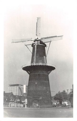 Ansichtkaart Schiedam Forte fotokaart Molen de Noord na herstel 1962 HC7384