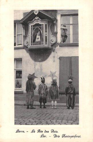 Ansichtkaart België Lier Drie Koningenfeest Lierre La Fete des Rois Europa Reclame Chocolat Martougin HC7385