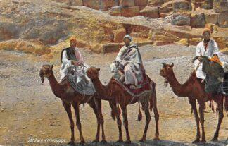 Ansichtkaart Egypte Beduin en voyage Bedoeïenen op reis met kamelen Egypt Afrika HC7403
