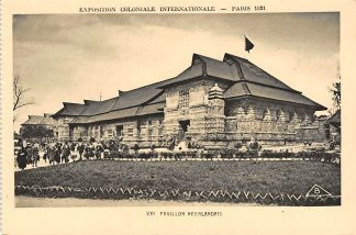 Ansichtkaart Frankrijk Paris Pavillon Neerlandais Nederlands Paviljoen 1931 Exposition Coloniale Internationale France HC7407
