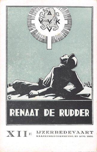 Ansichtkaart België Renaat de Rudder XIIe IJzerbedevaart Kaaskerke - Diksmuide 23 aug. 1931 WO-1 HC7425