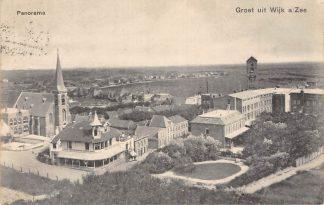 Ansichtkaart Wijk aan Zee Groet uit 1909 Panorama HC7435