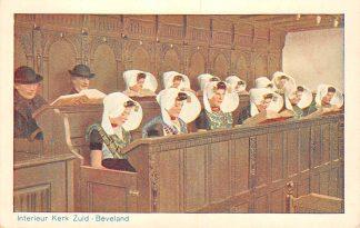 Ansichtkaart 's Heer Arendskerke Goes Zuid-Beveland Interieur Kerk Klederdracht HC7446