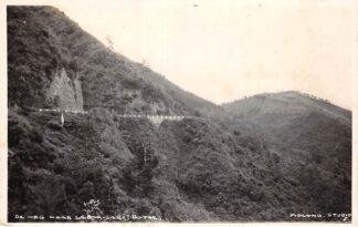 Ansichtkaart Nederlands-Indië De weg naar Lebak -Sari Batoe Fotokaart Indonesië Indonesia Azië HC7461