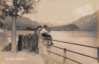 Ansichtkaart Zwitserland Am Quai in Brienz Visser Scweiz Switserland Suisse Europa HC7464