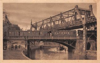 Ansichtkaart Duitsland Berlin Kanalschiffahrt uns Hochbahn. Treinen Zug Spoorwegen Deutschland Europa HC7468