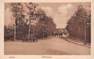 Ansichtkaart Haren (GR) Ruitersweg met ruiters te paard HC7494