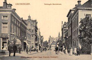 Ansichtkaart Groningen Verlengde Heerestraat met sigaren winkel Tulp HC7506