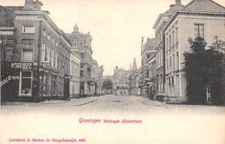 Ansichtkaart Groningen Verlengde Heerestraat met sigaren winkel voor 1906 HC7507