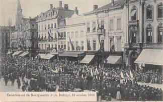 Ansichtkaart België Antwerpen Enterrement du Bourmestre Alph. Hertogs 22 octobre 1908 Europa HC7516