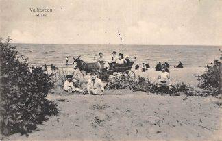 Ansichtkaart Valkeveen Strand met ezelkar en kinderen Zee Huizen Naarden 1916 HC7535