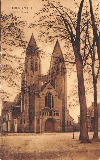 Ansichtkaart Laren (NH) R.C. Kerk 1934 HC7539