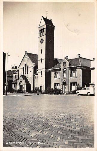 Ansichtkaart Wormerveer R.K. Kerk Auto 1950 HC7543