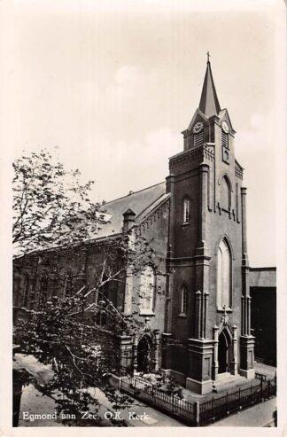 Ansichtkaart Egmond aan Zee Oud Katholieke Kerk 1949 HC7545