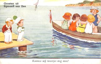 Ansichtkaart Egmond aan Zee Groeten uit 1948 Kunnen wij tweetjes nog mee? HC7546