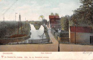 Ansichtkaart Zaandam West-Zijderveld met Spoorlijn Spoorwegen 1905 HC7563