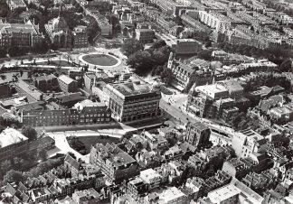 Ansichtkaart Amsterdam Leidscheplein omstreeks 1926 KLM Luchtfoto Heruitgave 1976 HC7582