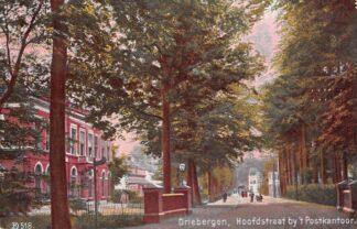 Ansichtkaart Driebergen Hoofdstraat bij het Postkantoor 1925 HC7617
