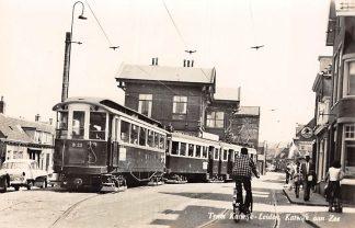 Ansichtkaart Katwijk aan Zee - Leiden Tram B 22 1959 Auto Sigarenwinkel HC7680