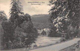 Ansichtkaart Duitsland Wernigerode a. Harz Christianental Deutschland Europa 1927 HC7686