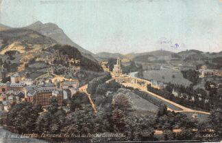 Ansichtkaart Frankrijk Lourdes Panorama Vue Prise du Pont du Boulevard 1908 France HC7687