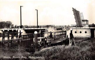 Ansichtkaart Gouda Nieuwe Brug Stolwijkersluis IJssel 1955 HC7691