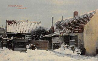Ansichtkaart Scheveningen Achterbuurtje in de sneeuw Winter 1908 HC7760