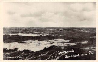 Ansichtkaart Zandvoort Groeten uit Opkomende vloed Zee 1958 HC7769