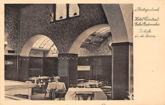 Ansichtkaart 's-Hertogenbosch Reclame Hotel Central Gebrs. Rademaker Inkijk in de boxen 1939 HC7801