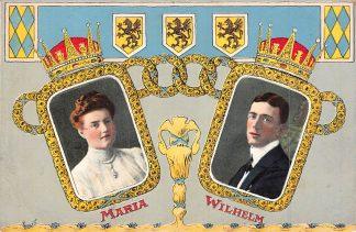 Ansichtkaart Zweden Maria en Wilhelm Reliëfkaart Koningshuis Sweden Sverige Europa HC7858