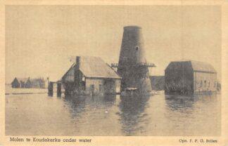 Ansichtkaart Koudekerke Molen onder water Watersnood HC7865