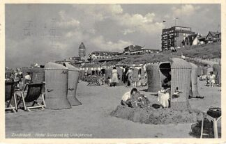 Ansichtkaart Zandvoort Hotel Seinpost en Uitkijktoren Strand 1934 HC7885
