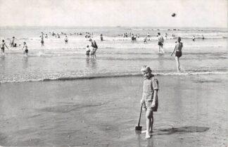 Ansichtkaart 's-Gravenzande Strand en zee gezicht 1956 HC7900