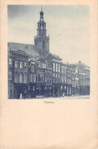 Ansichtkaart Gouda Markt in 1898 HC7905
