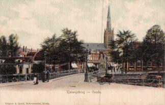 Ansichtkaart Gouda Kleiwegbrug met R.K. Kerk HC7909