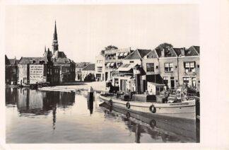 Ansichtkaart Gouda De Bogen Vest Turfsingel Sleepboot Haarlemmermeer V Binnenscheepvaart Schepen 1946 HC7911