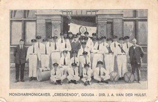 Ansichtkaart Gouda Mondharmonicavereniging Crescendo Dir. J.A. van der Hulst HC7920