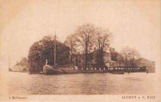 Ansichtkaart Alphen aan den Rijn 's Molenaars Binnenvaart schepen Scheepvaart HC7953