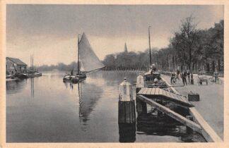 Ansichtkaart Alphen aan den Rijn 's Molenaars Rijn Binnenvaart schepen Scheepvaart 1927 HC7955