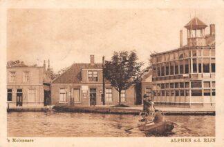 Ansichtkaart Alphen aan den Rijn 's Molenaars Veerpont Rijn Hotel Café 1929 Veer Pont HC7956