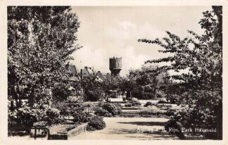 Ansichtkaart Alphen aan den Rijn Park Hazeveld met Watertoren 1949 HC7965