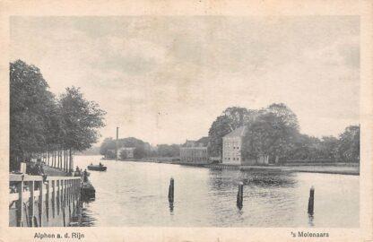 Ansichtkaart Alphen aan den Rijn 's Molenaars 1919 Rijn Binnenvaart schepen Scheepvaart HC7968