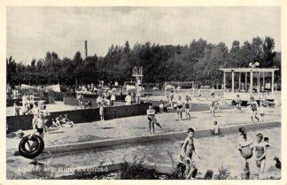 Ansichtkaart Alphen aan den Rijn Zwembad begin jaren 50 HC7974