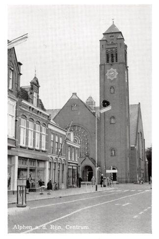 Ansichtkaart Alphen aan den Rijn Centrum met Ned. Hervormde Kerk HC7996