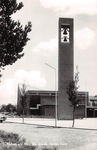 Ansichtkaart Alphen aan den Rijn De Goede Herder Gereformeerde Kerk 1966 HC8001